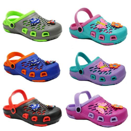 girls boys cute clogs sandals kids slip