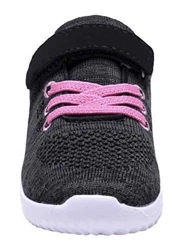 Owaheson Boys Girls Casual Lace-up Sneakers Running Shoes Heart Cancer Ribbon Pattern Print