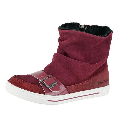 kids ballina suede leather shoes plum 33