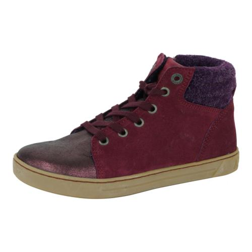kids bartlett shoes suede leather plum 28