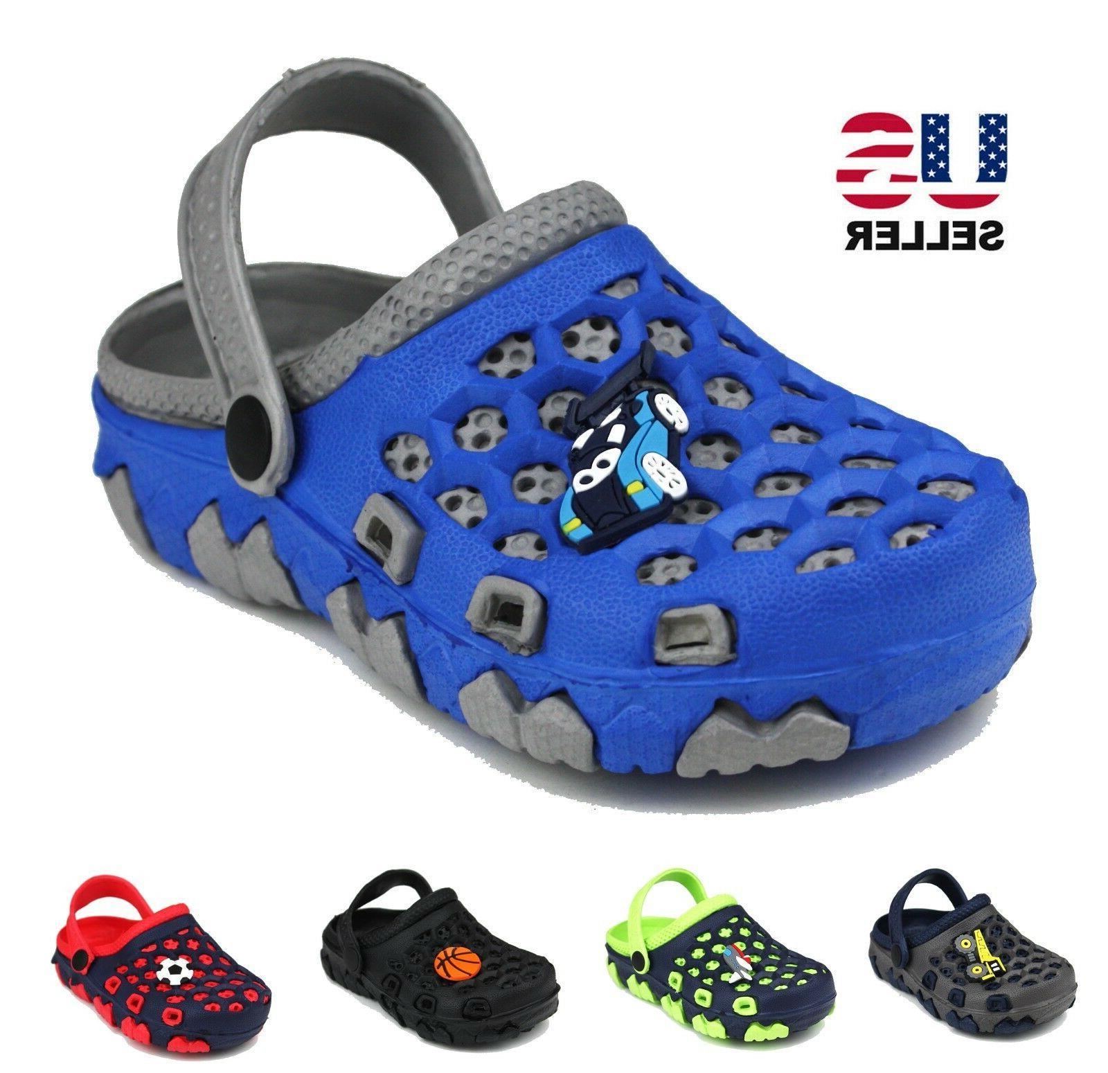kids boys children toddler slip on clogs