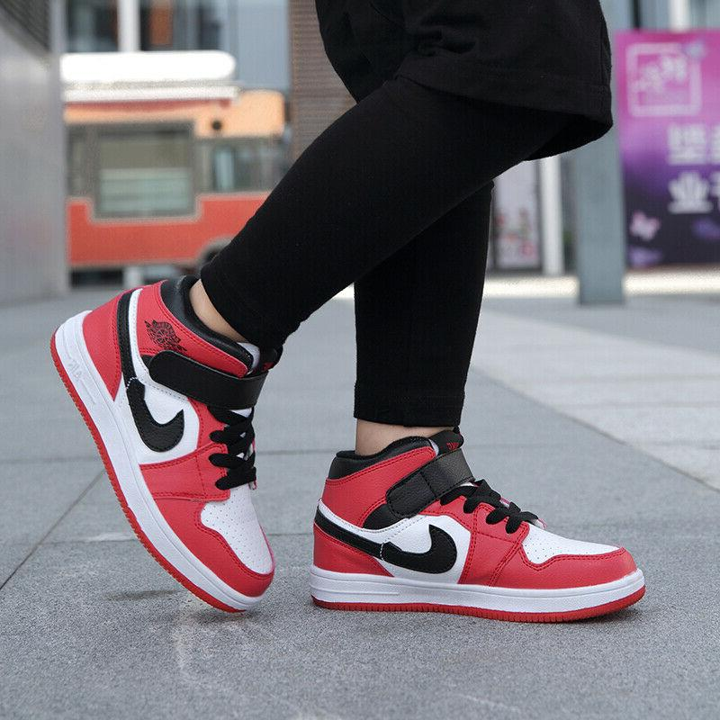Kids Boys Basketball Shoes Outdoor Running Athletic Sneakers