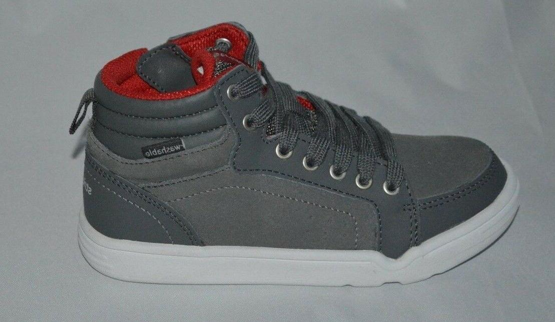 Stride Rite Kids' Boys Made 2 Play Kaleb Mid Sneaker Dark Grey Size
