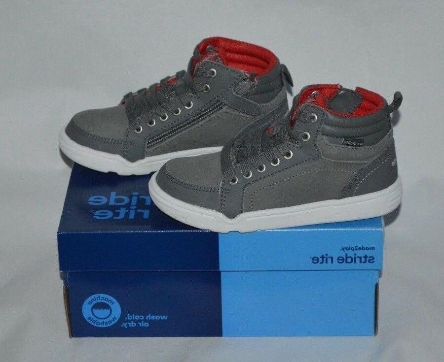 Stride Rite Boys Made 2 Play Mid Sneaker Grey 11.5 M