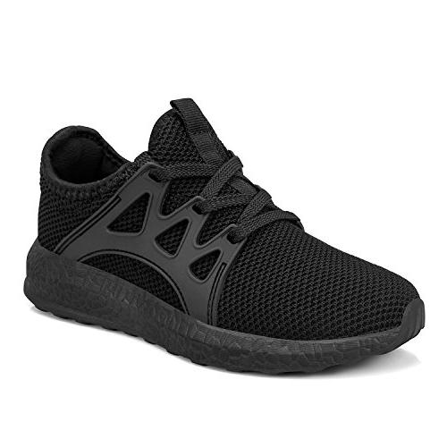 Feetmat Comfortable Sneakers Athletic Walking Shoes for Girls Black