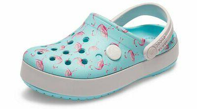 kids crocband multi graphic clog