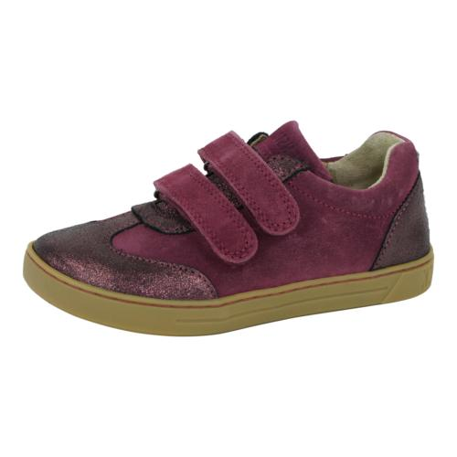 kids davao shoes suede leather plum 28