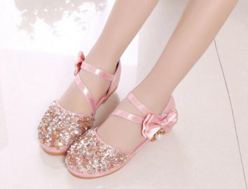 Kids Girls Party Bridesmaid Shoes Size