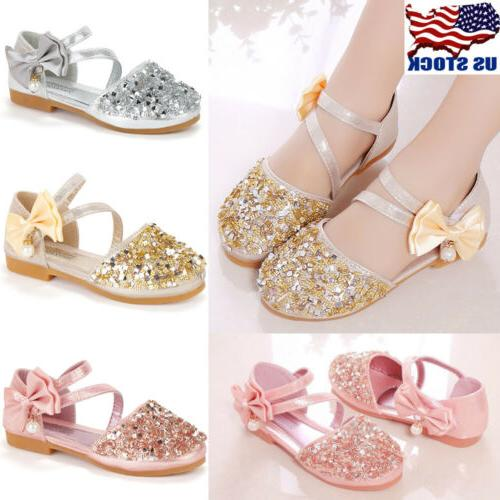 kids girls glitter wedding party buckle princess