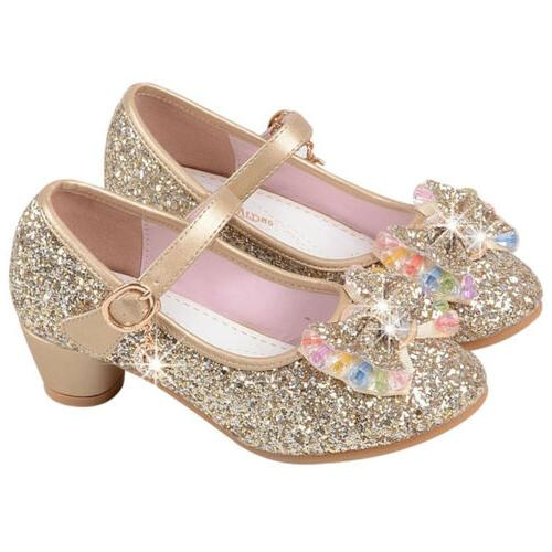 Kids Girls Sandals Low Party