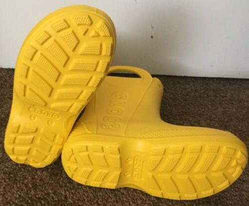 CROCS Handle-it Boot Shoes NWT Yellow • Size