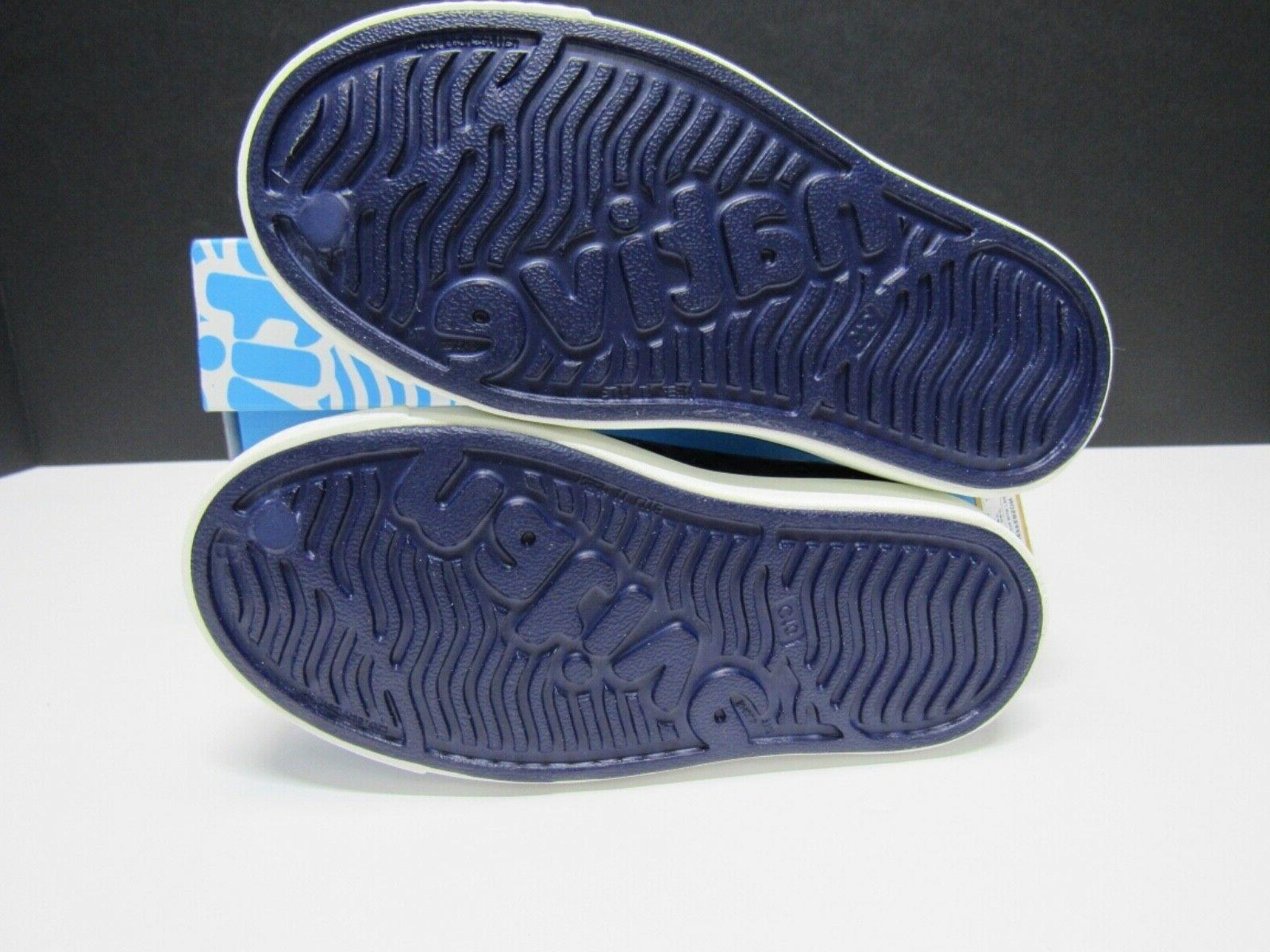 Native Kids Jefferson Iridescent Girls Slip On Regatta Blue/White Size
