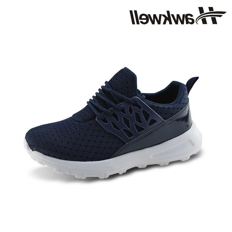 Hawkwell Kids Running Shoes  Athletic Sneakers Lace-up Boys
