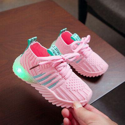 Kids LED Up Sneakers Cute Cool