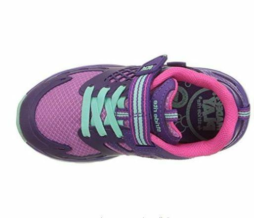 2 Purple Hook Loop Shoes 4W