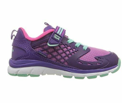 Stride Kids' 2 Cannan Purple Hook Loop Shoes