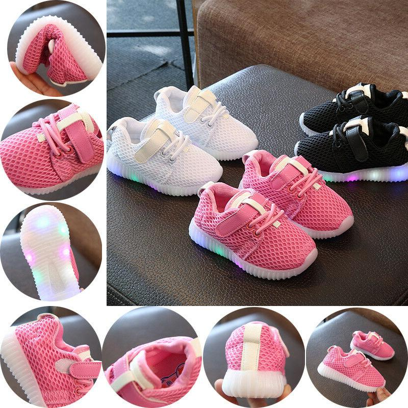 kids running shoes sneakers led light up