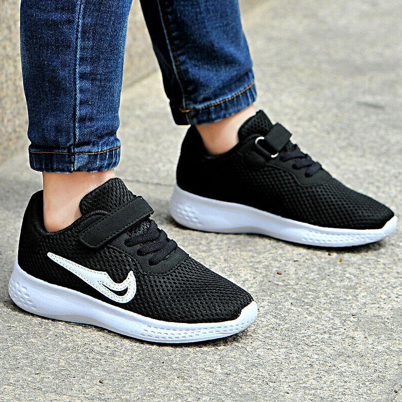 Kids Shoes Sneakers Lace Sports Running Mesh Hot