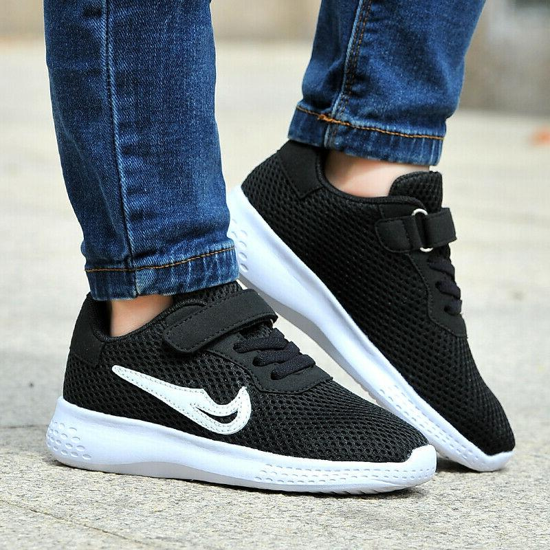 Kids Sneakers Lace Sports Running Mesh Hot