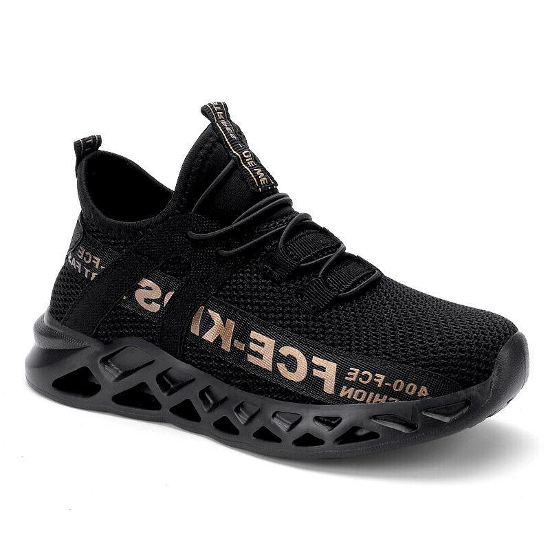 Kids Boys Girls Sneakers Tennis Gym Shoes