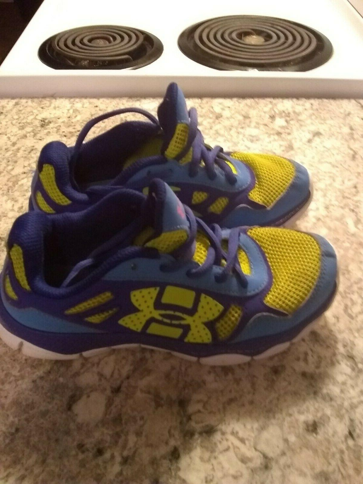kids armour shoes neon green 2