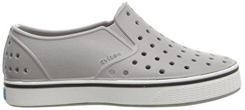 Native Miles Shoe,pigeon grey/shell white,8