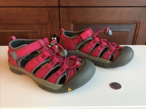 Keen Kids Size 3 Washable Red Dry Sandals