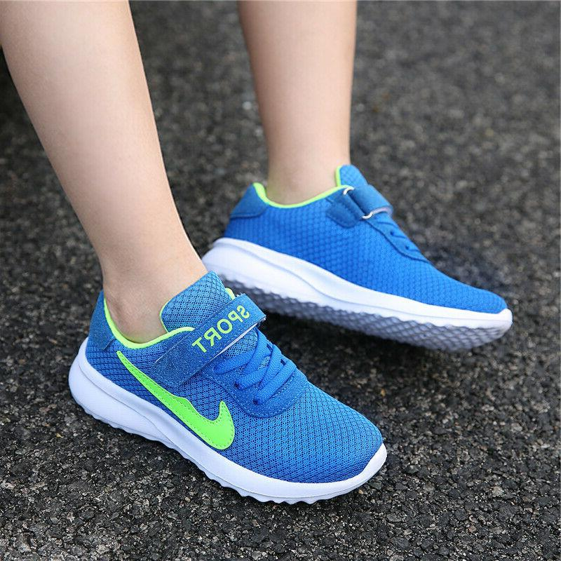 Kids Sneakers Breathable Boys Girls Lightweight Athletic