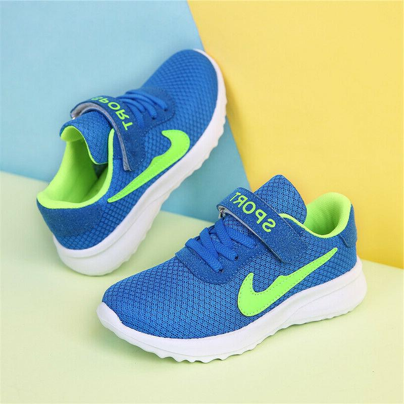 Kids Sneakers Knit Boys Lightweight Athletic Running
