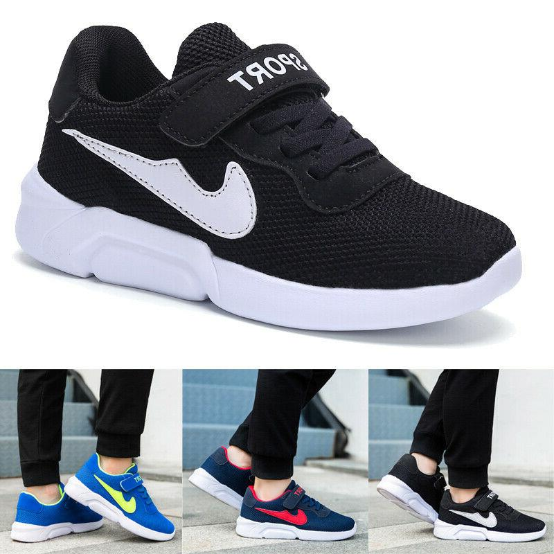 kids sneakers running shoes breathable sports casual