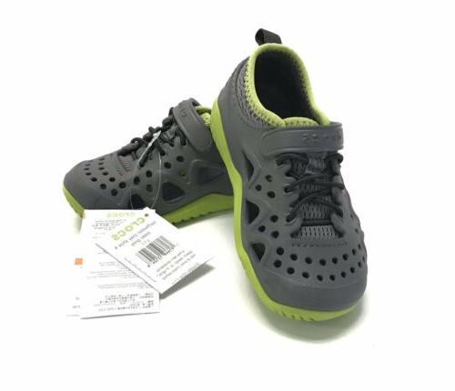 kids swiftwater play shoe gray lime sizes