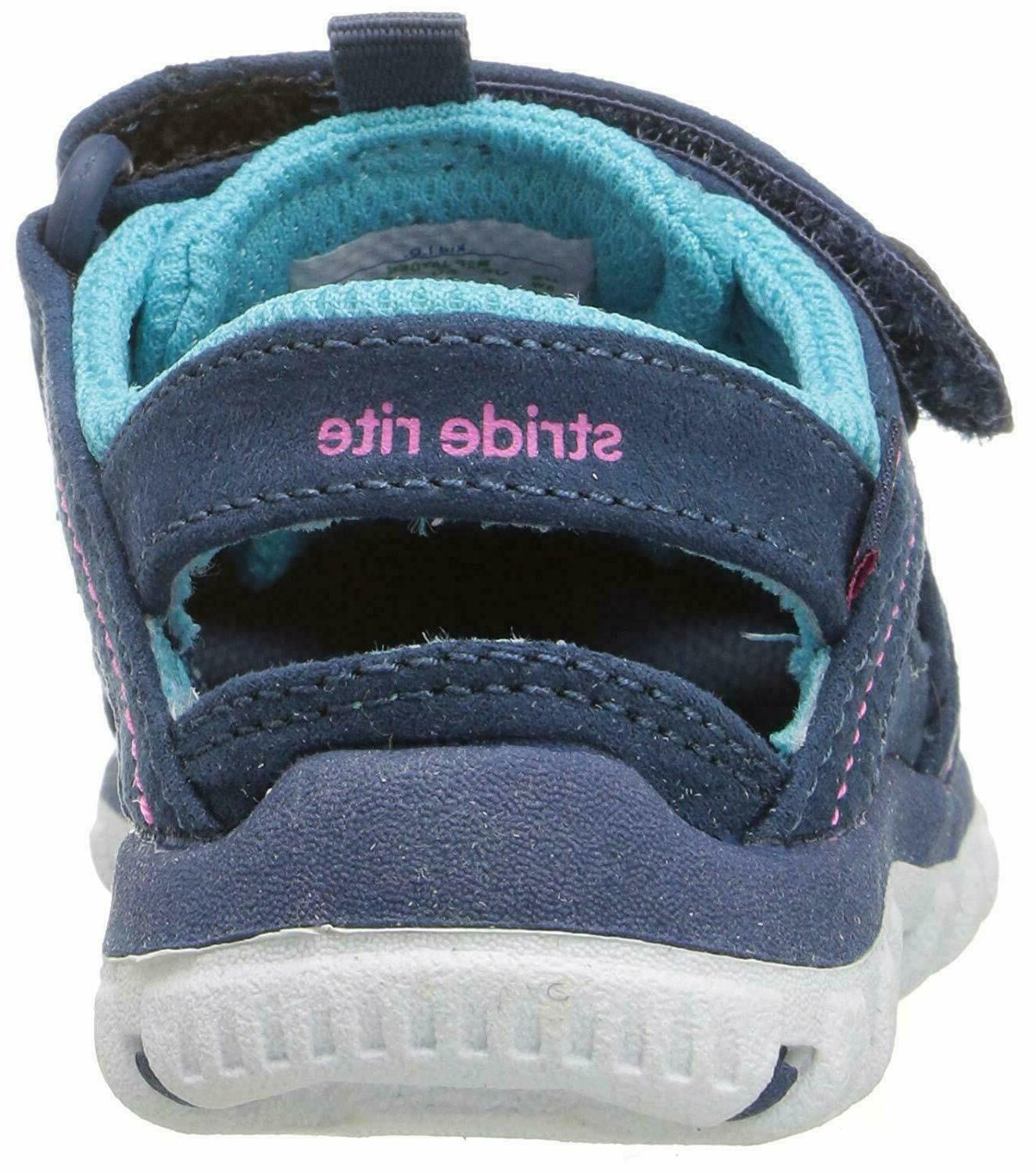 Stride Rite Kids Shoes Sandals Made 2 Play Navy Turquoise
