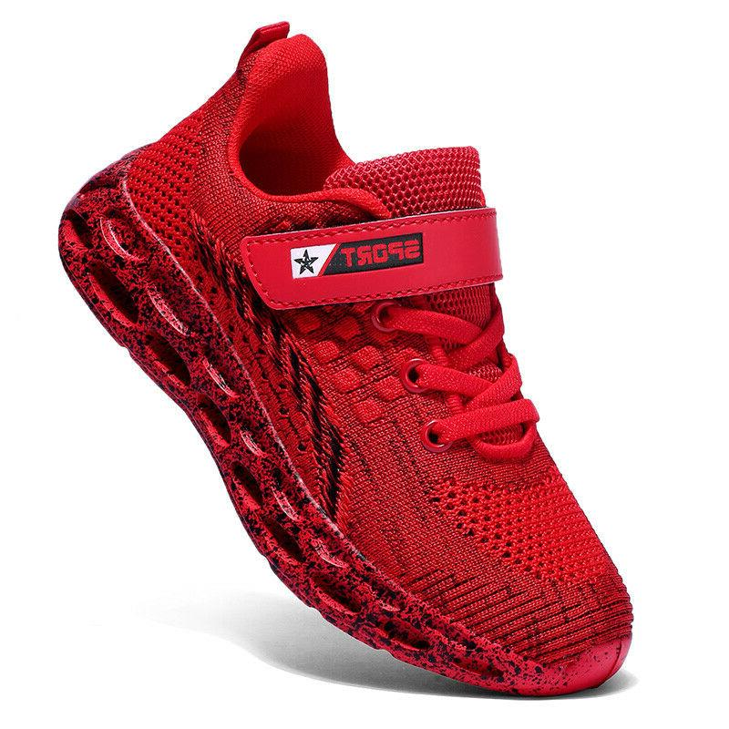 Kids Shoes Boys Knit Athletic Sneakers