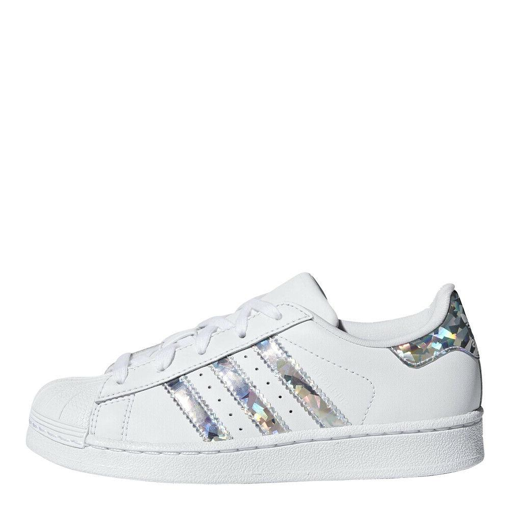 little kids originals superstar shoes white silver