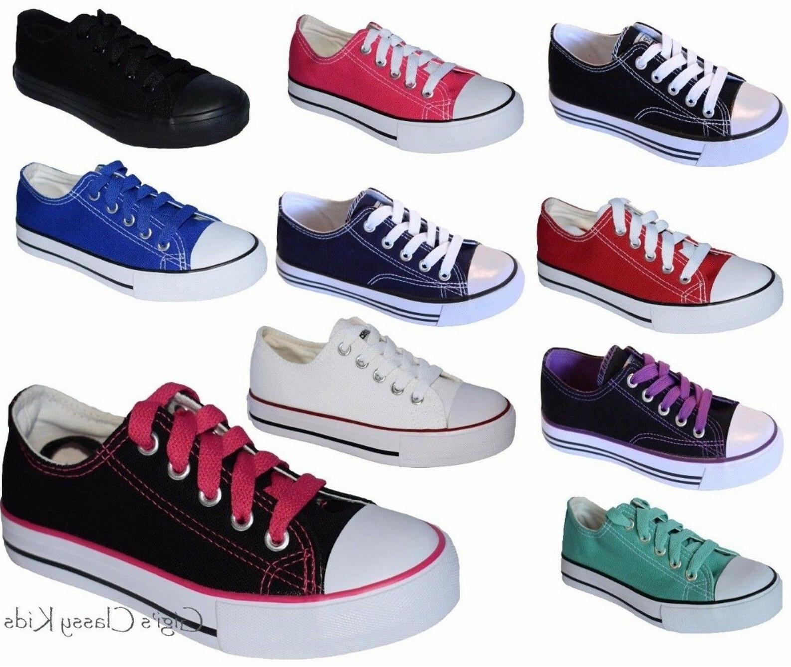 New Classic Low Top Canvas Tennis Shoes Lace Sneakers