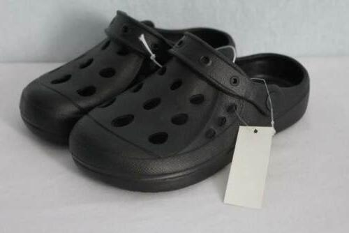 NEW Boys Water Shoes Size 2 Kids Black Sandals Clogs Slip On