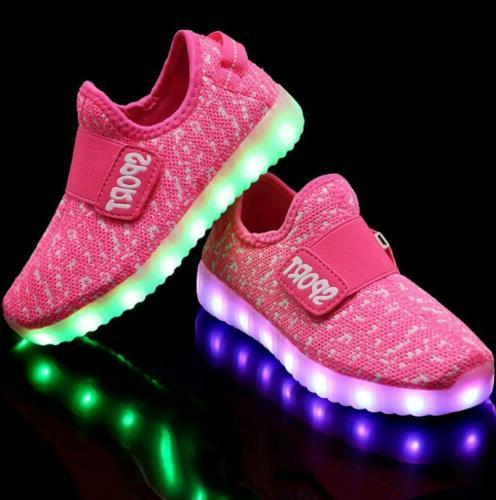 New Children Girls Luminous shoes Led Shoes