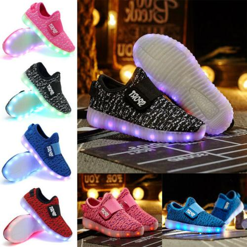 New Girls Luminous Sneakers shoes Up Shoes