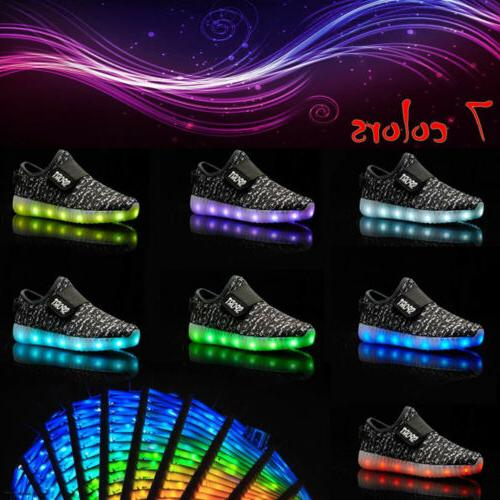 New Children Girls Luminous Sneakers shoes Light Shoes