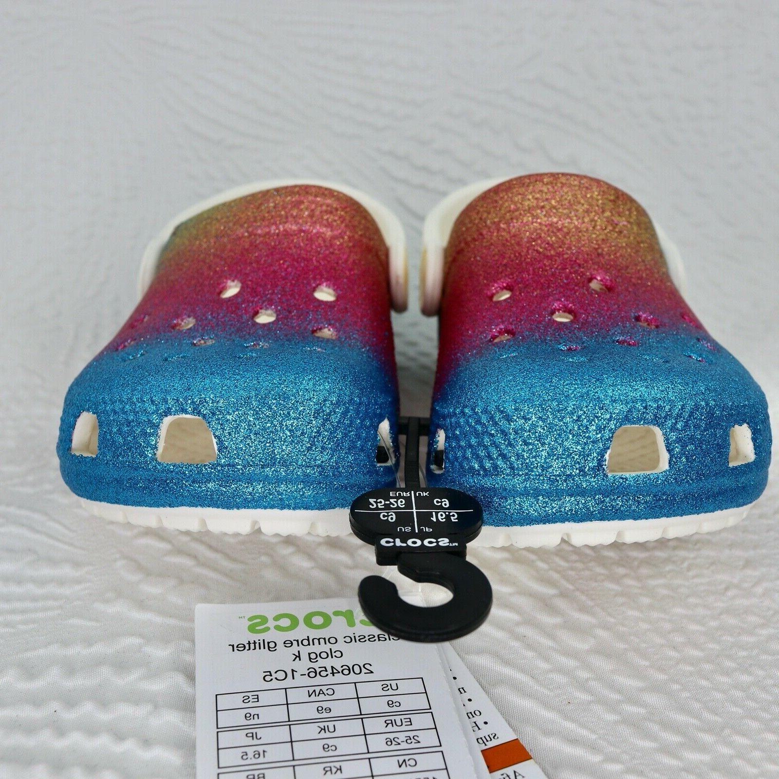 NEW Crocs Kids Classic Ombre Clog toddler 9