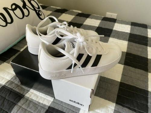 NEW VL Court 2.0K Shoes Youth Sz 11 White/Black