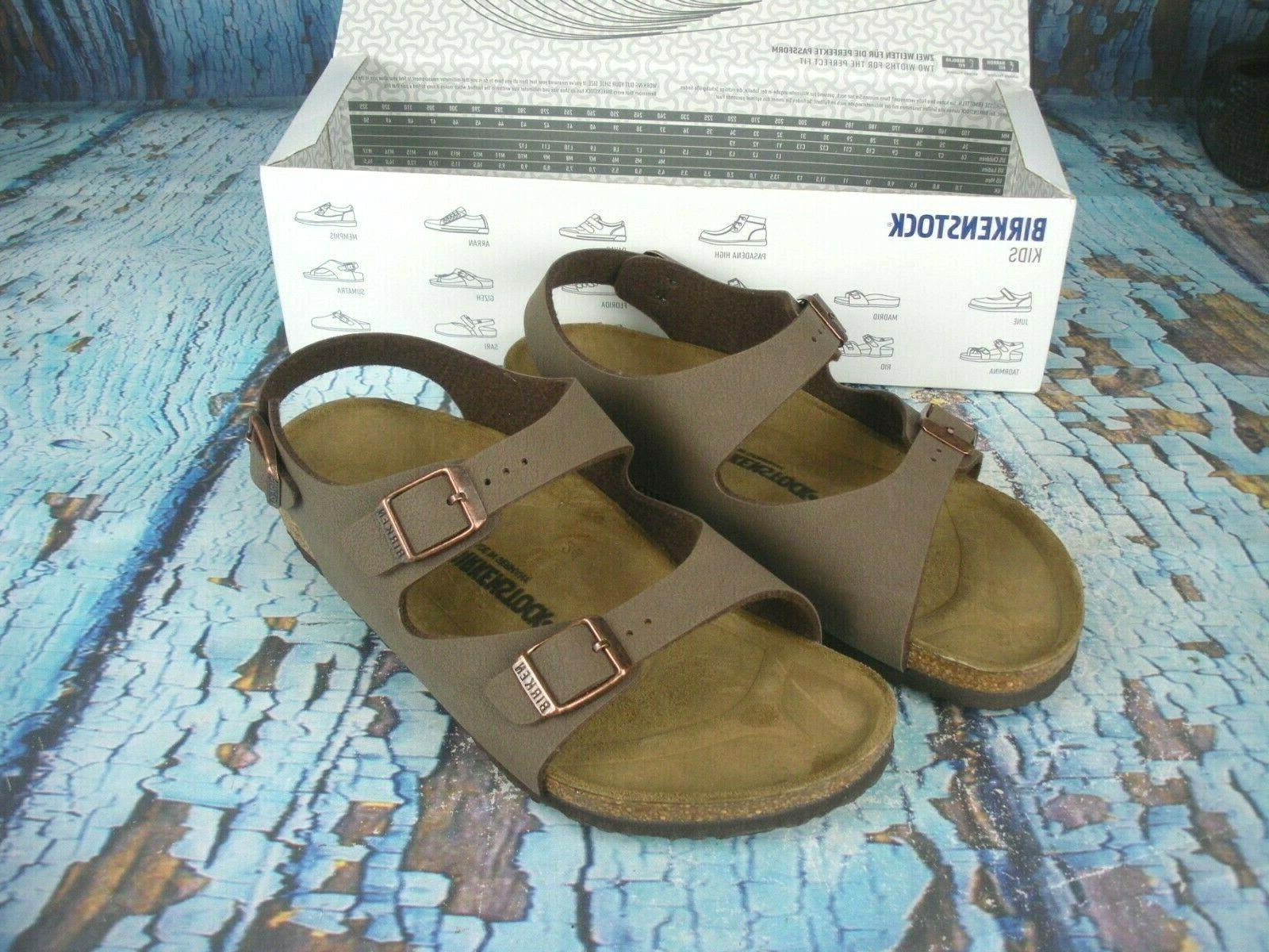 new roma kids mocha brown sandals shoes