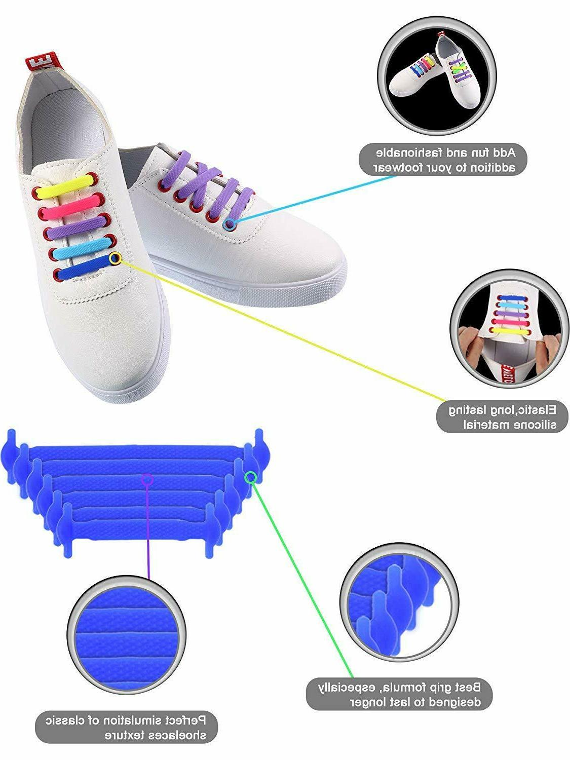 No Shoe Laces Silicone Rubber For Sneakers