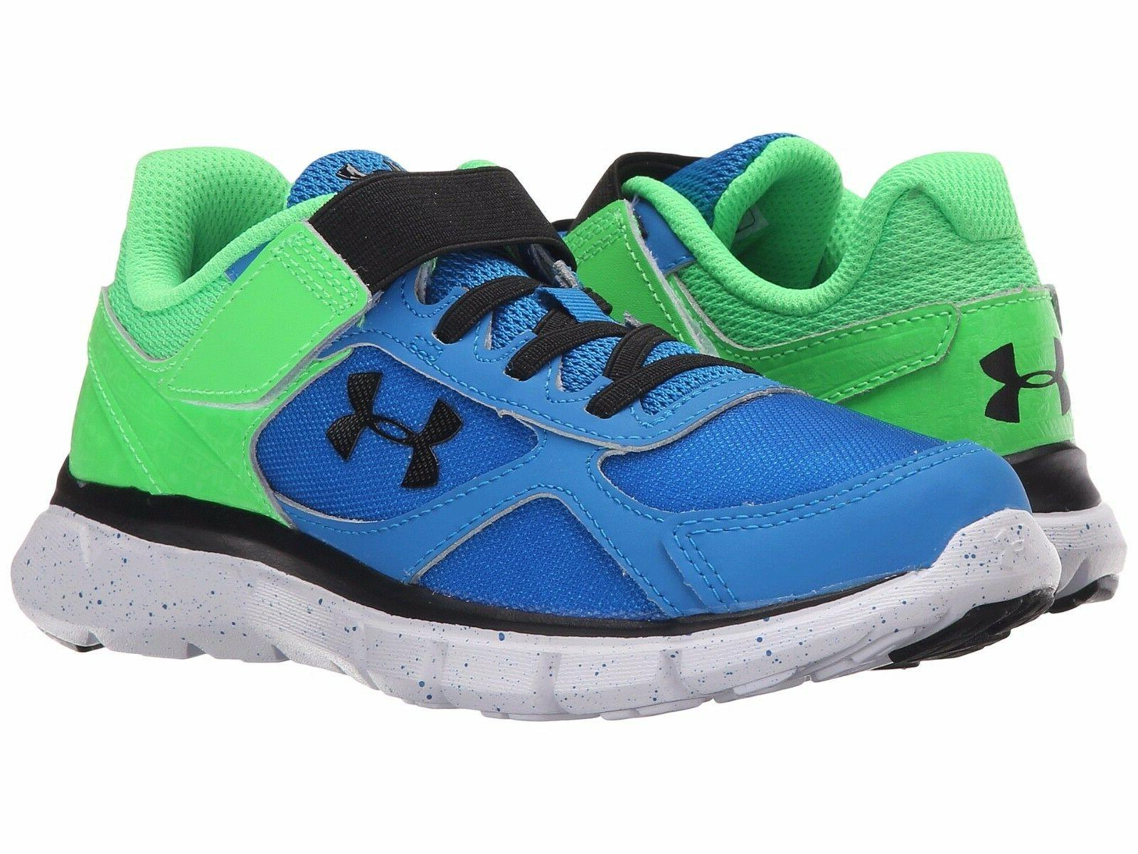 Under Armour Non Tie  Boys Sneakers Blue/Laser Green/Blk  Ch