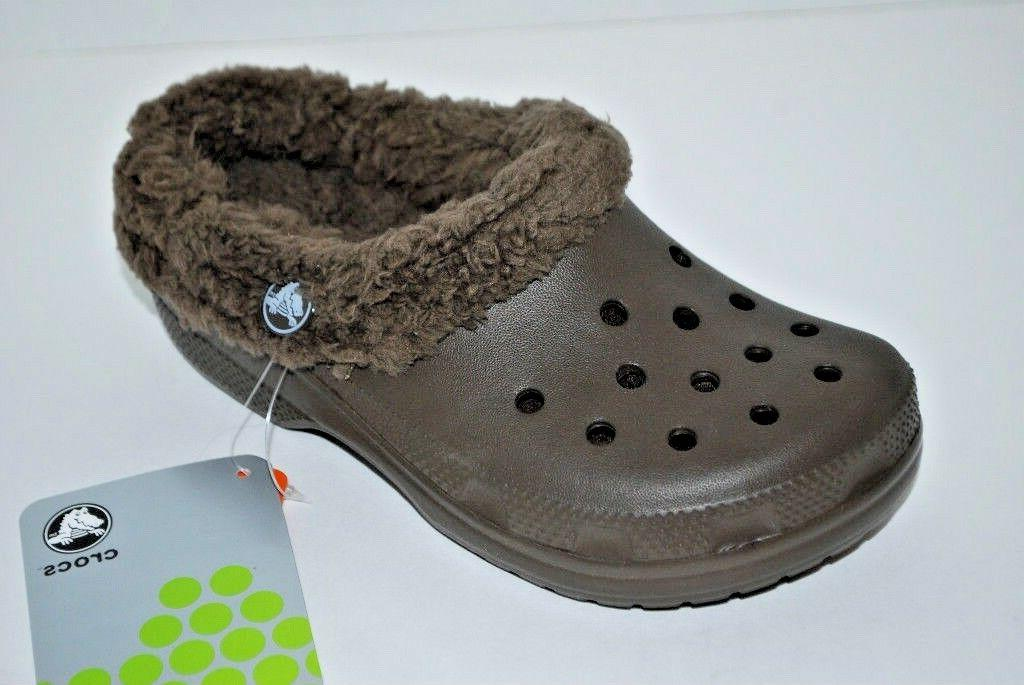 NWT CROCS CHOCOLATE 12/13 CLOGS winter shoes