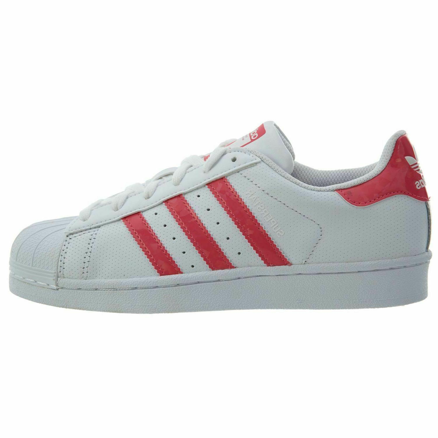 ADIDAS SUPERSTAR White Pink Shoes