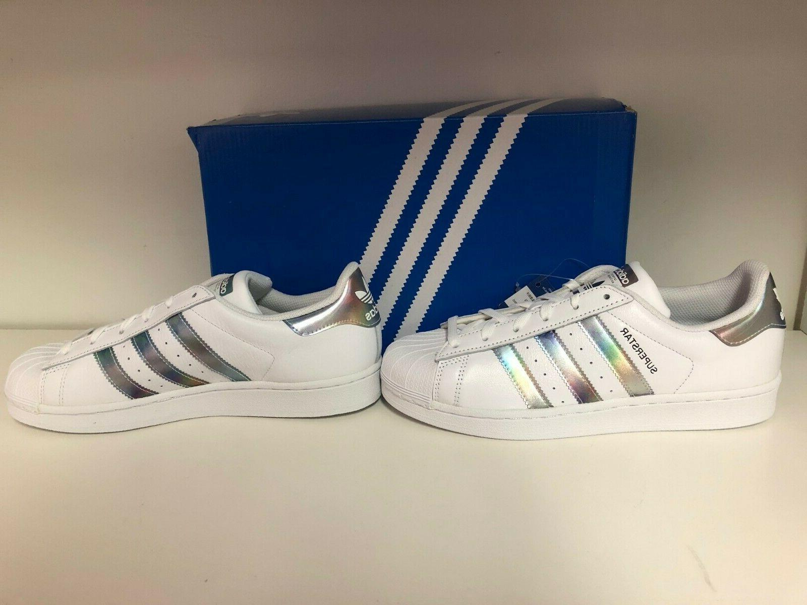 Adidas Superstar Shell White/Metallic Size