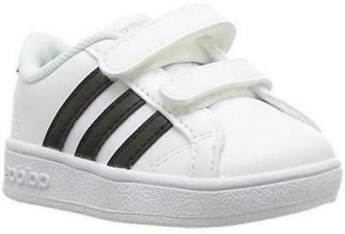 performance unisex kids baseline sneaker white black