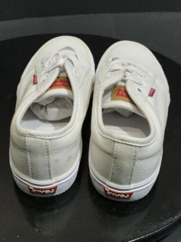 Levis Big Boy's Sneakers White Shoes Size US