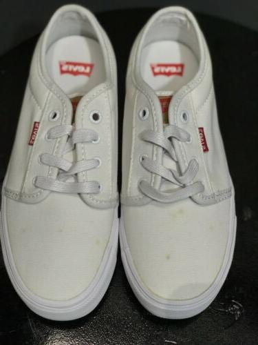 Levis Big Boy's Sneakers White Shoes Size